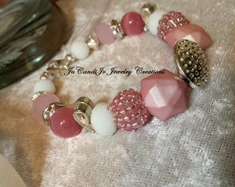 "SALE CURE Breast Cancer Awareness 6 1/2-7"" bracelet"
