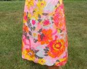 "Vintage Floral Half Slip Vanity Fair Women's Tricot Nylon Pink 22"" Slip Small Medium"