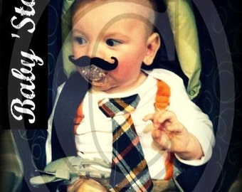 Mustache Pacifier-Baby Mustache-The Handlebar-Little Man Party-Mustache Party-Baby Shower gift-baby gift-gender reveal-baby boy gift