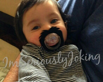Mustache Pacifier-Baby Boy Pacifier-Baby Goatee-Little Man Party- Baby Shower gift-Baby Boy Gift-Baby gift- Baby Boy-Little Man-Baby Shower