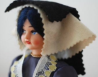 Antique Mid Century Doll, Unique Gift For Wife Mom, Doll Collectable, Antique Toy,