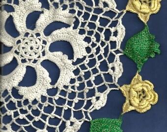Vintage15 inch Irish Lace doiley