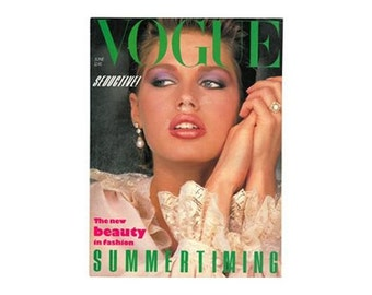 Vogue Magazine - UK June 1983 Vintage edition with cover photograph by Albert Watson