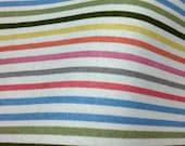 ON SALE - A Fat Quarter of Kawaii Japanese Cotton Linen Fabric - Multiple Stripe