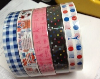 Special Offer - 5 Rolls per Pack Vintage Style Zakka Deco Adhesive Tape