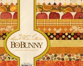 Bo Bunny APPLE CIDER 6x6 paper pad BoBunny paperpad 6 x 6