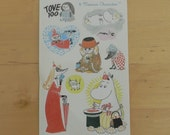 Moomin stickers:) - two ark