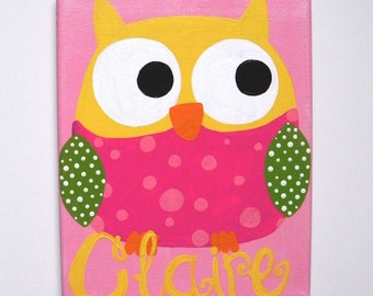 Personalized Owl Art