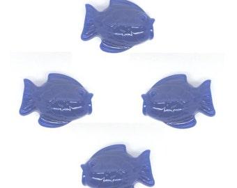 50 Fish Beads - Royal Blue