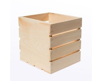 "Wood Square Crate ( 9"" x 9"" x 9"" )"
