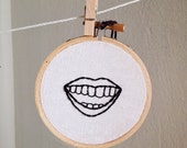 hand embroidered mouth il...