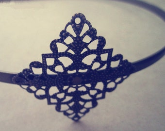 4pcs antique bronze  Headbands / hairbands with a filigree wrap base40mm