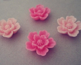 15pcs  Mixed color  Resin Flowers 20mm
