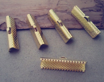 100 pcs 20mm gold color Fasteners Clasps