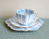Antique Victorian Pre Shelley Wileman & Co Paradise Print Tea Trio//Tea Cup//Saucer//Plate//Set 2 of 2 Available