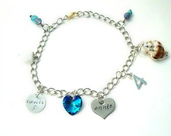 Inspired Finnick & Annie Charm Bracelet