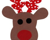Special order for Kim for 2 reindeer fabric iron on appliques DIY