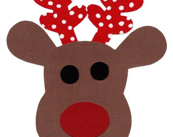 Reindeer fabric iron on applique DIY