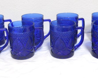 Popular Items For Cobalt Blue Mugs On Etsy