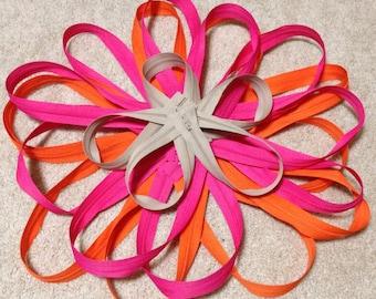 Zipper Lot - 25 Zippers Hot Pink -Bright Orange -Khaki Tan