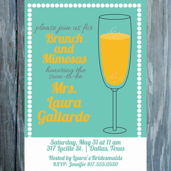 Items similar to mimosas and brunch invitation for Housewarming shower ideas
