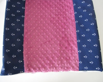 Contoured Minky Changing Pad By Lolas Lovies with Michael Millers Out to Sea Fabrics