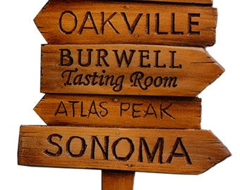 Custom Wine Wall Decor Napa Road Sign Personalized