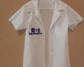 Doc McStuffin Lab Coat,lab coat,doc mcstuffins,coustume,dr coat,birthday party,disney coat