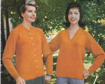 On Sale - Paton's Knitting Pattern No 610 Women/Ladies Twin Sets (Vintage 1960s)