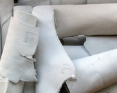 White Leather Scraps and Pieces --  1 Lb. assortment
