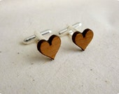 Cufflinks - Wedding cufflinks - Wood Cufflinks - Rustic Wedding - lasercut wooden cufflinks - 5 year anniversary - groom cufflinks