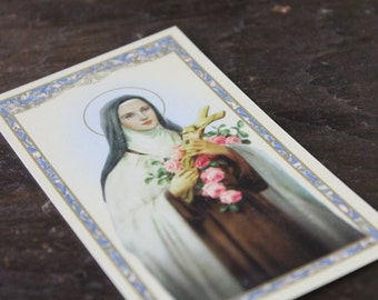 Saint Therese - Catholic Holy Prayer Cards (4) - Prayer of Saint Therese - The Little Flower of Jesus