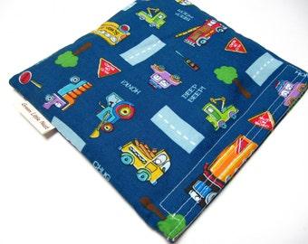 SALE Reusable Sandwich Bag, Cars and Trucks Sandwich Bag, Back To School Snack Bag, Reusable Lunch Bag, Car Sandwich Bag