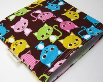 Reusable Sandwich Bag, Eco-Friendly Snack Bag, Urban Cats Sandwich Bag, Waste Free Lunch, Girls Cat Snack Bag, Back To School