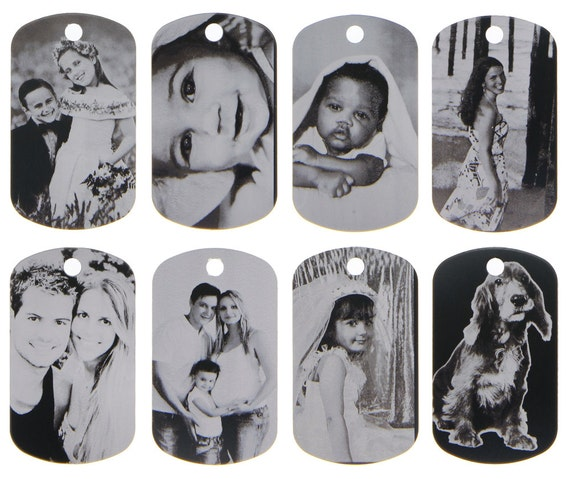 Custom Made Laser Etched Black Tone Aluminum Dog Tag Picture