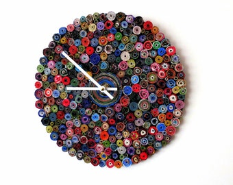 Wall Clock, First Anniversary Gift, Paper Beads Art, Wall Clocks,  Decor and Housewares, Decor, Home Decor, Home and Living