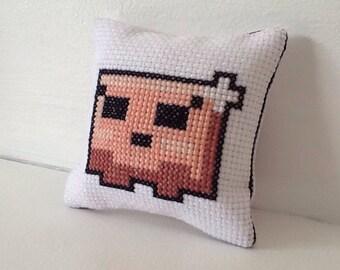 Super Meat Boy/Bandage Girl Mini Cushion (PDF Pattern)
