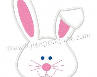 Instant Download - Easter Embroidery Design - Bunny Face embroidery applique design - 4x4, 5x7, and 6x10 hoops