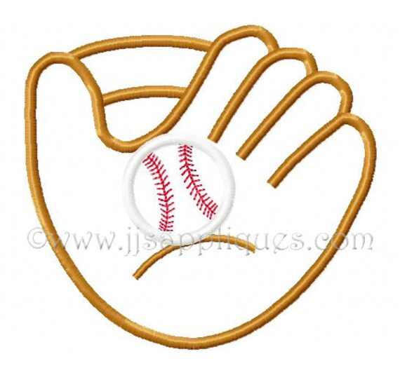 Instant Download - Baseball Embroidery Applique Designs Sports Embroidery Designs - Baseball Glove and Baseball  4x4, 5x7, 6x10 hoops