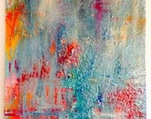 Acrylic & Wax on Stretched Canvas - original abstract art