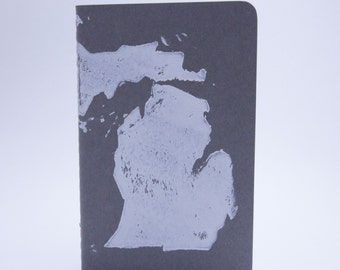 Michigan Oh My Michigan Notebook--A Handprinted Moleskine