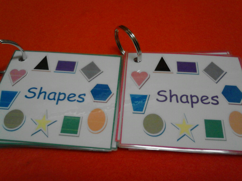 Shapes Flash Cards Shape Cards Preschool Learning Preschool