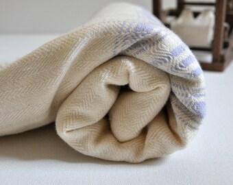 Turkish Towel Hand Loomed Cotton Peshtemal Towel