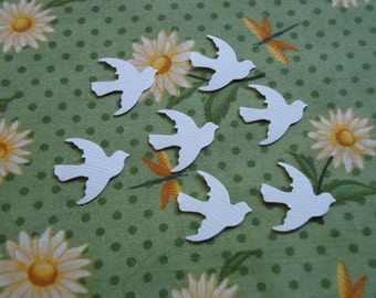 100 White Dove Punch Die Cut Confetti