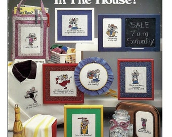 Mouse In The House Counted Cross Stitch Pattern Book Leisure Arts Leaflet 415