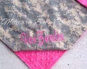Custom Made to Order Military/Camo Baby Blanket 29x35 No Name Tape