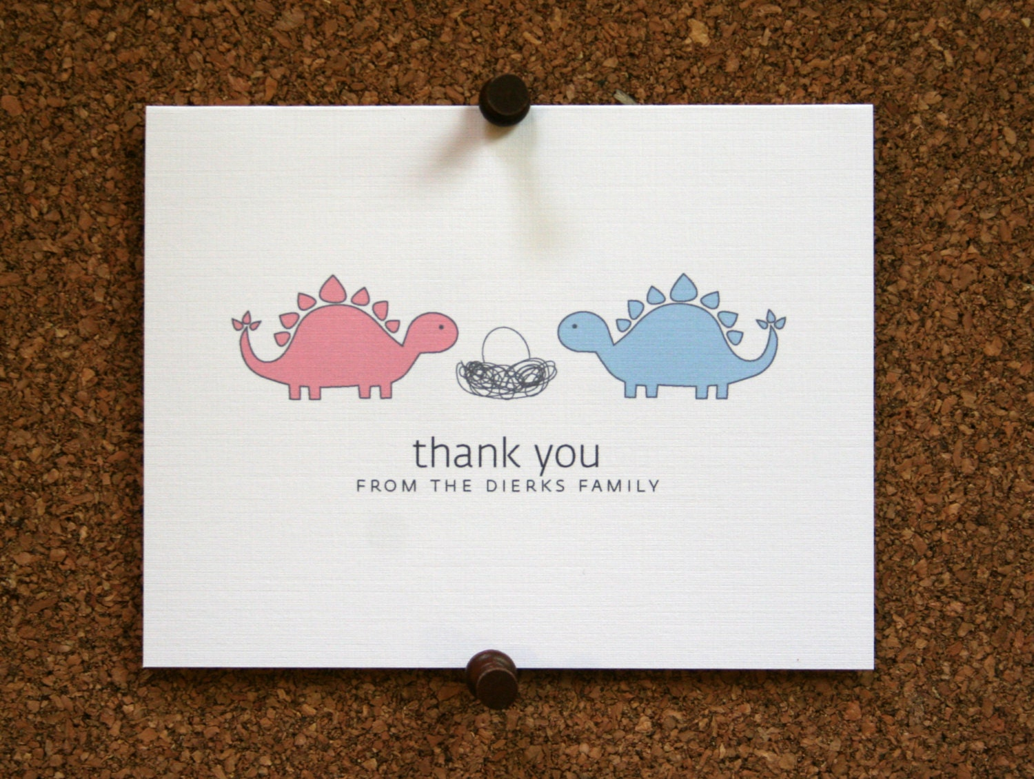 dinosaur baby thank you cards baby shower thank you cards