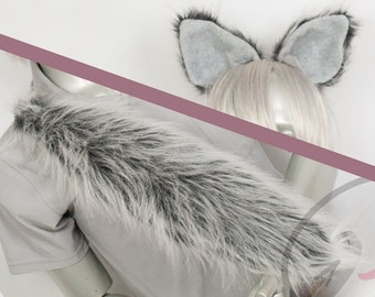 BEST Furry Wolf  Ears and/or Tail - buy as Set or Separate! -  Cosplay, Accessories, Costume