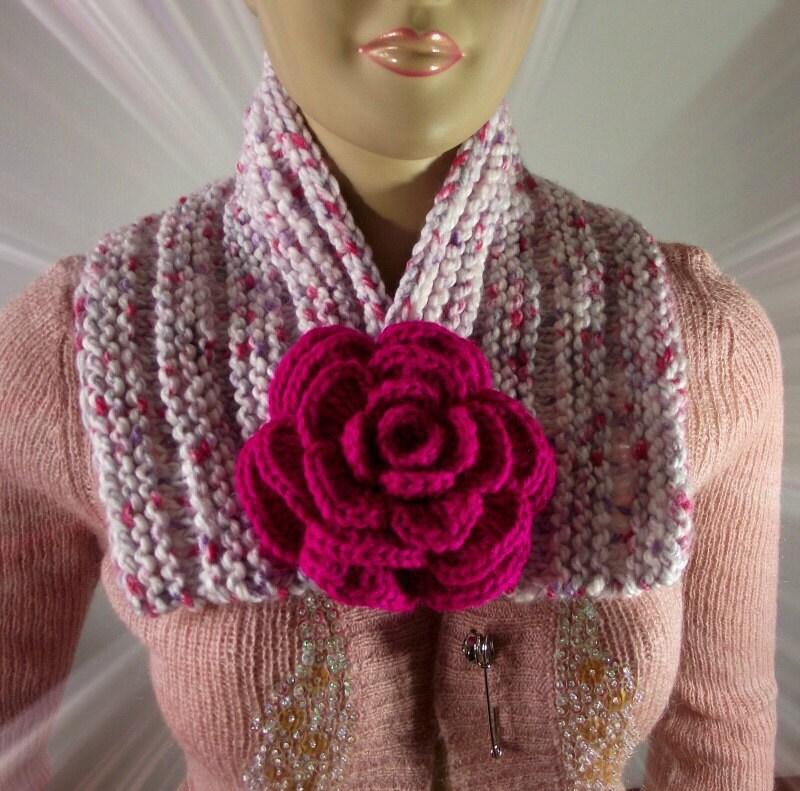 Bandana Cowl Knitting Pattern : KNITTING COWL PATTERN Scarf Lily Cowl Pattern by LiliaCraftParty