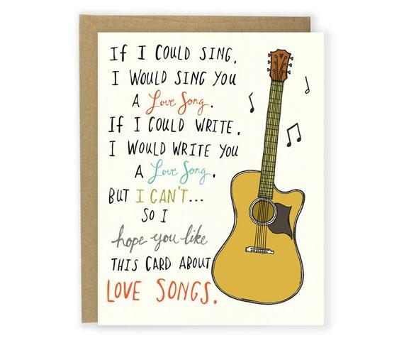 Love song card anniversary valentine s
